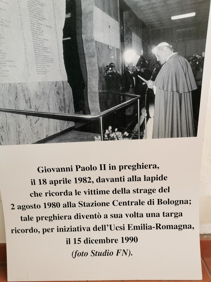 18 aprile 1982, la visita di Giovanni Paolo II alla Stazione di Bologna