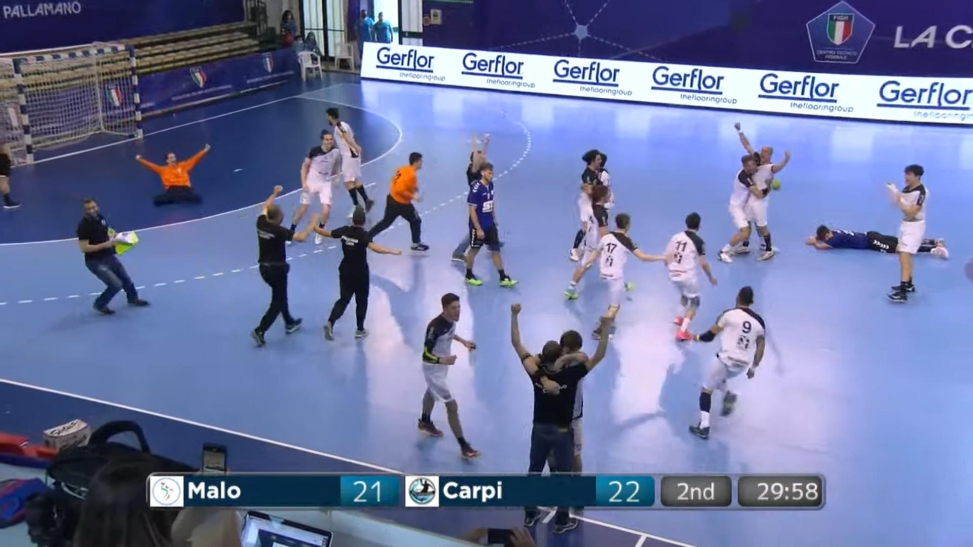 Pallamano, il Carpi è in Serie A