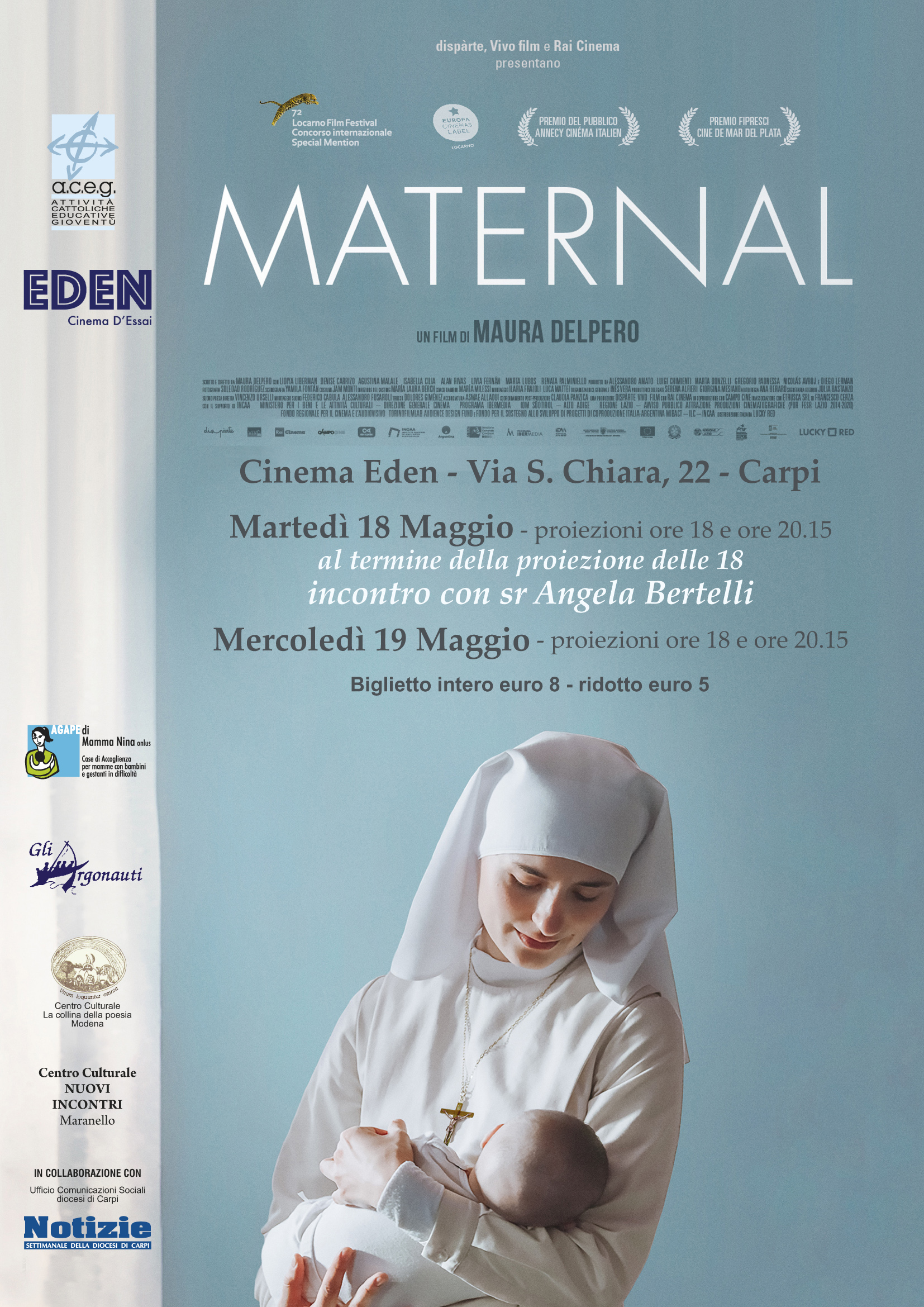 Il 18 e 19 maggio al cinema Eden il film MATERNAL