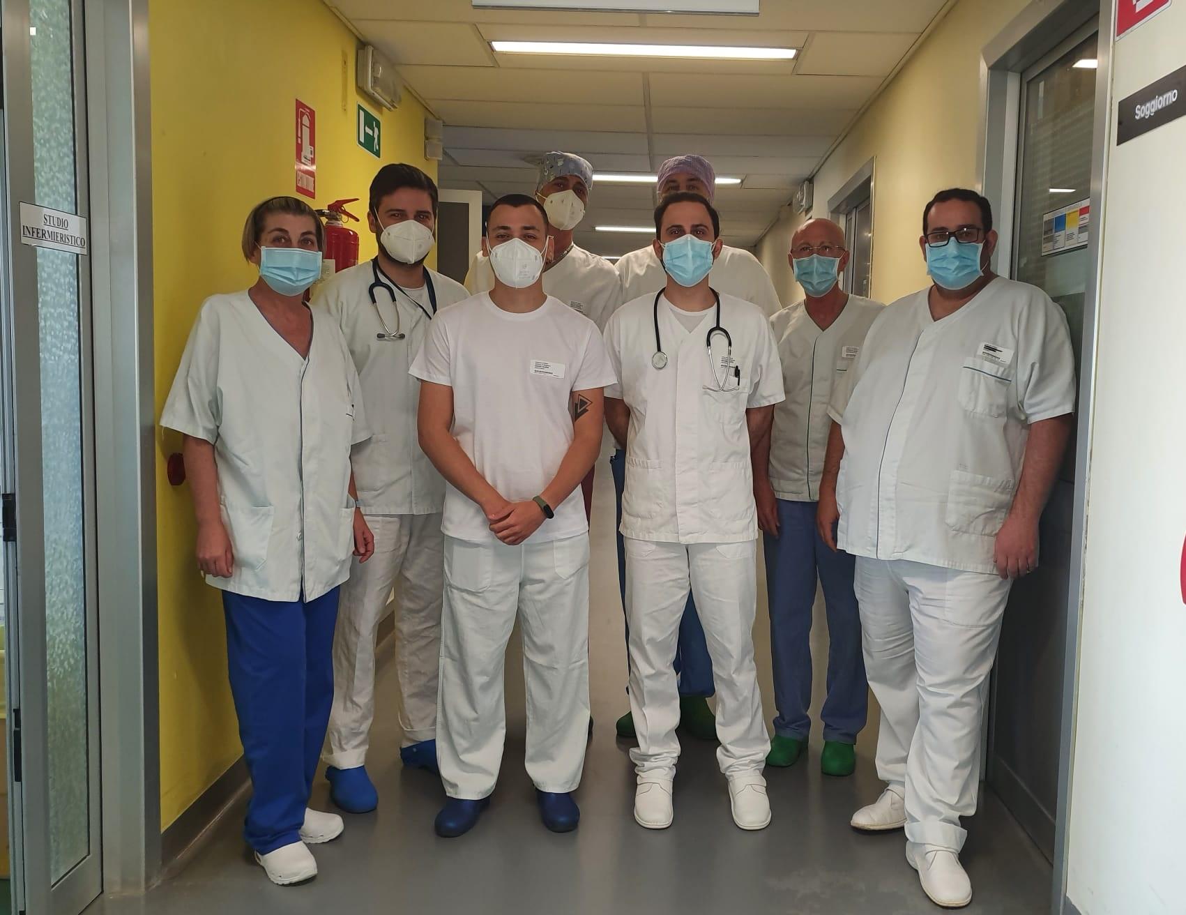 Ospedale di Mirandola Covid free