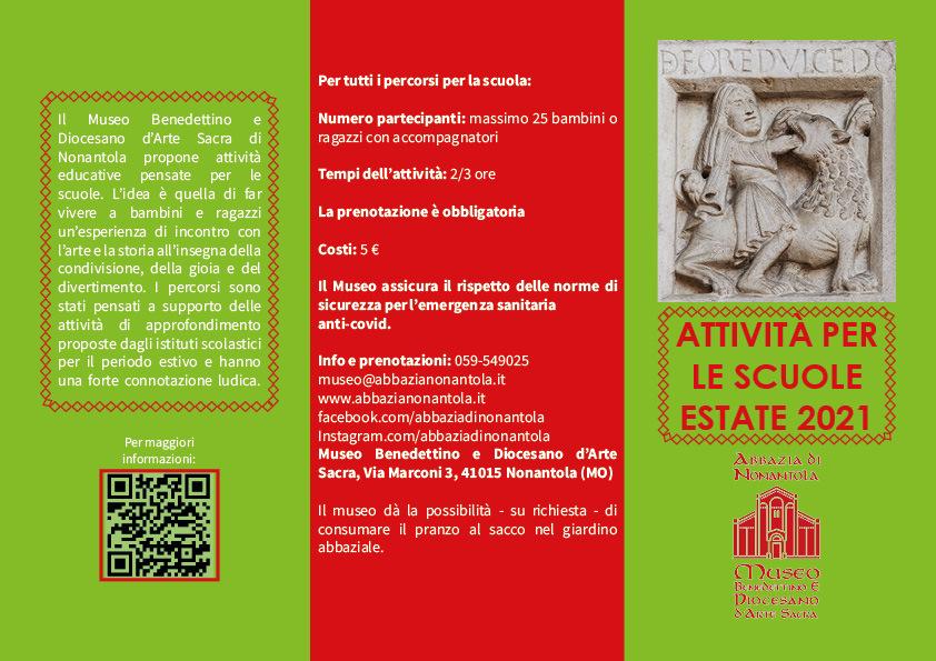 Abbazia di Nonantola, proposte per i centri estivi