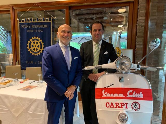 La storia della Vespa e della Piaggio al Rotary Club di Carpi