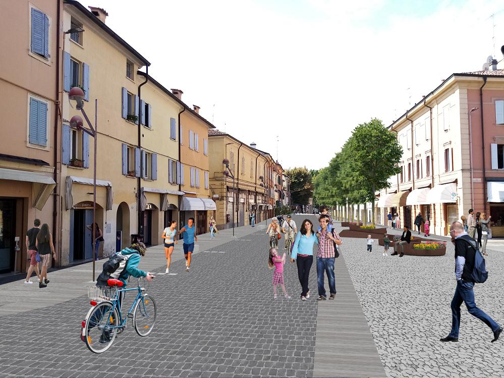 Riqualificazione e pedonalizzazione di corso Roma da inizio 2022