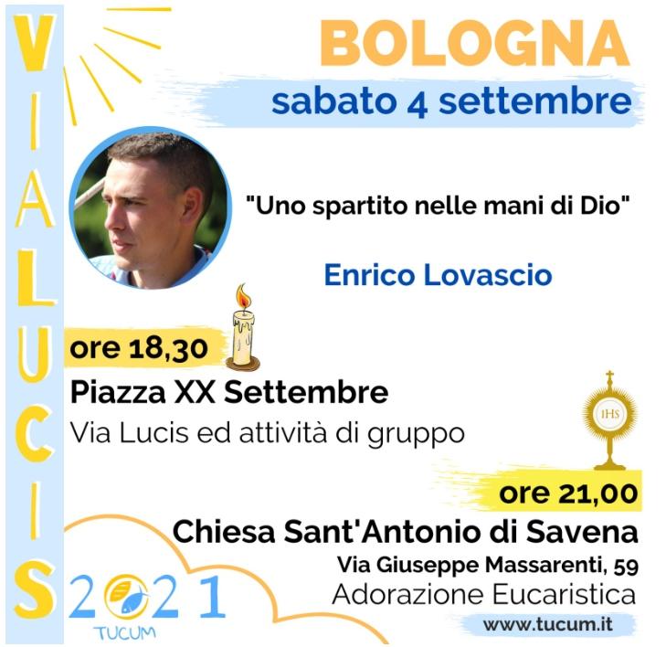 Enrico Lovascio testimone della Via Lucis 2021