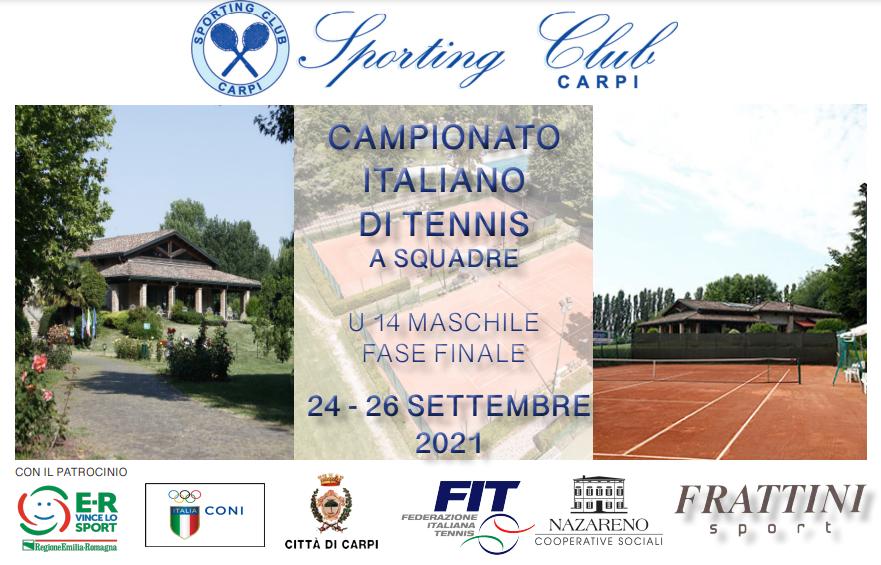 Tutto pronto allo Sporting per il campionato italiano Under 14 di tennis